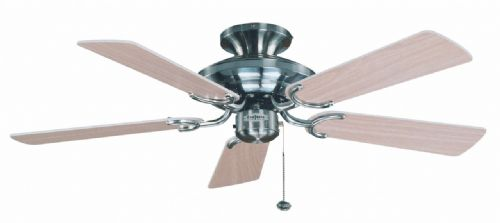 "Fantasia Mayfair 42"" Stainless Steel Ceiling Fan 110866"